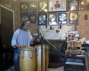 Recording Bashiri Johnson at The Lab - Supernatural Thing